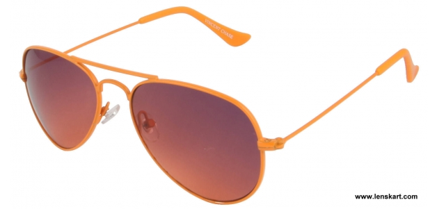 Vincent Chase VC 0100 Orange Unisex Sunglasses ( For Small Face )